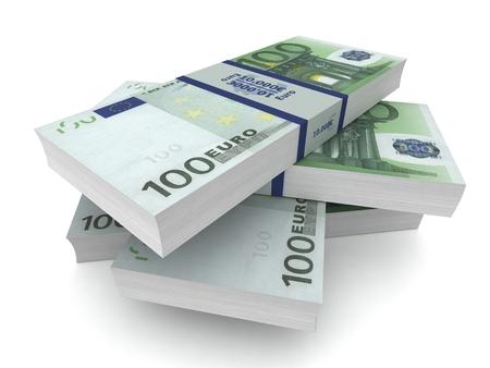 money bills 3d illustration isolated 写真素材