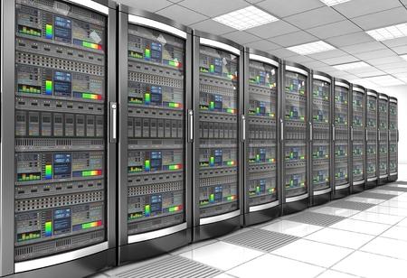 network workstation server room 3d illustration Banque d'images - 106854306