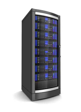 single network workstation server 3d illustration