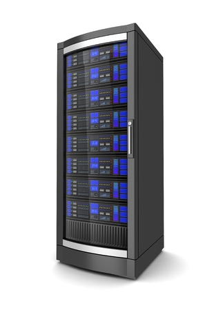 single network workstation server 3d illustration Banque d'images - 106854323