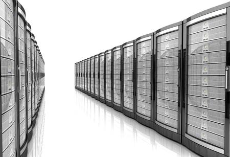 network workstation server 3d illustration