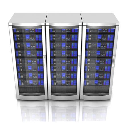 network workstation servers 3d illustration Banque d'images - 106565297