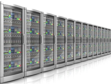 network workstation servers 3d illustration Banque d'images - 106565308