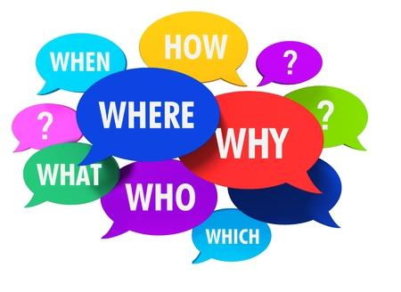 questions speech bubbles concept 3d illustration