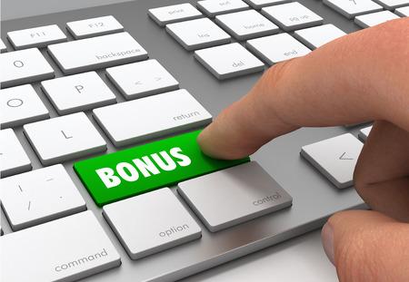 bonus button concept 3d illustration Stock fotó