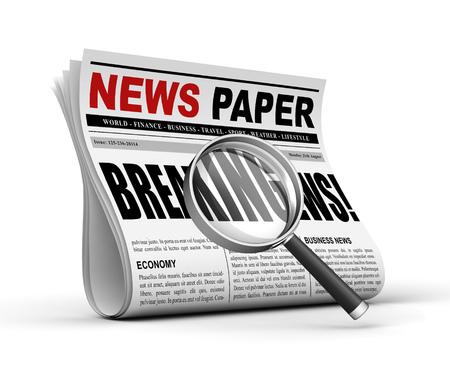 newspaper concept 3d illustration