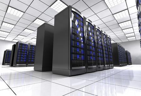 network workstation server room 3d illustration