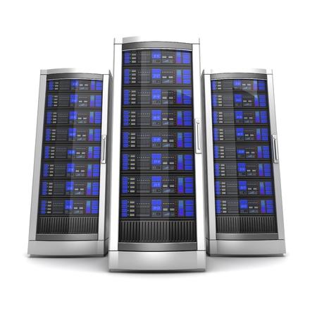 network workstation servers 3d illustration