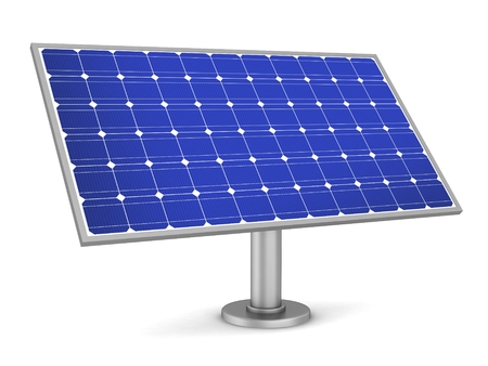 solar panel concept 3d illustration