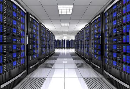 network workstation server room concept 3d illustration Stock Photo