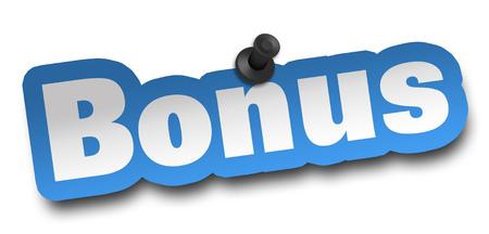 bonus concept 3d illustration isolated on white background