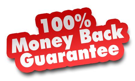 money back concept 3d illustration isolated on white background
