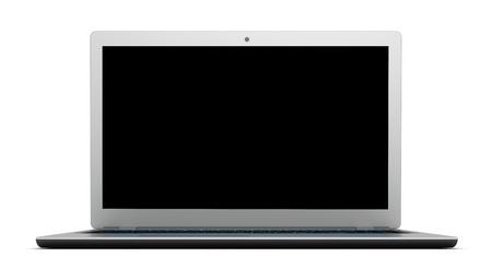 modern laptop computer single 3d illustration isolated