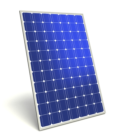 solar panel concept 3d illustration isolated on white background