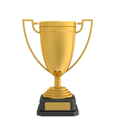 Gold Award Cup 3D-Darstellung auf weißem Hintergrund