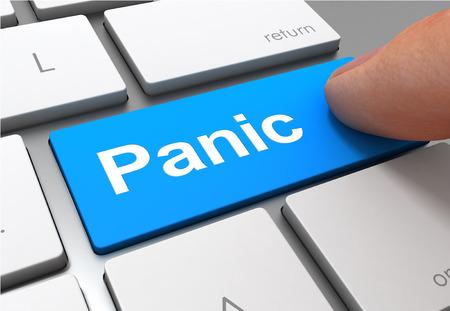 panic push button concept 3d illustration isolated Standard-Bild - 120725713