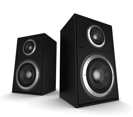 Lautsprecher 3D-Darstellung auf weißem Hintergrund