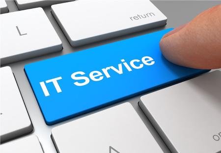 IT service push button concept 3d illustration isolated Standard-Bild - 120725636