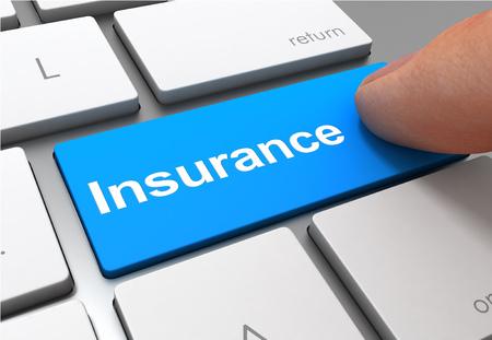 insurance push button concept 3d illustration isolated Standard-Bild - 120725647