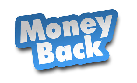 money back concept 3d illustration isolated on white background Standard-Bild - 120725769