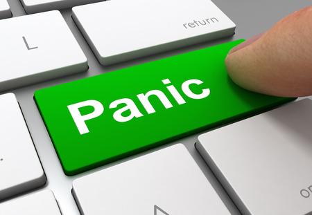 panic push button concept 3d illustration isolated Standard-Bild - 120725780
