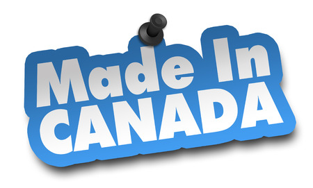 made in canada concept 3d illustration isolated on white background Standard-Bild - 120725782