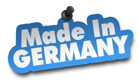 made in germany concept 3d illustration isolated on white background