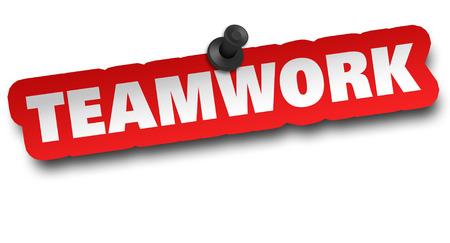teamwork concept 3d illustration isolated on white background Standard-Bild - 120725829