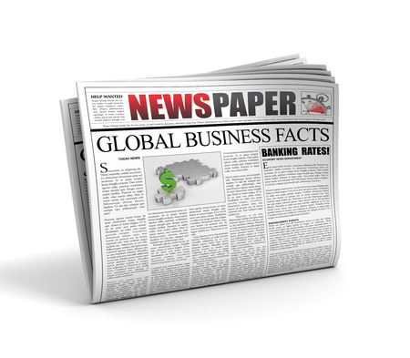 newspaper 3d illustration isolated on white background Stock Photo