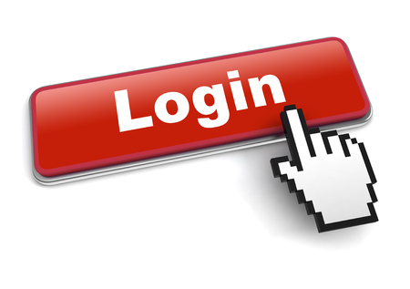 login concept 3d illustration isolated on white background