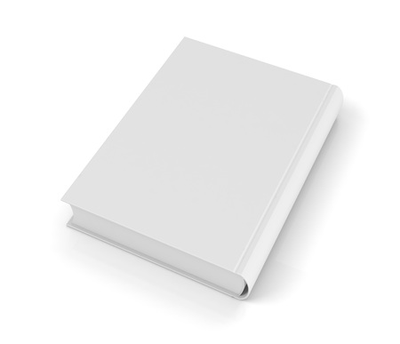 single book 3d illustration on white  background