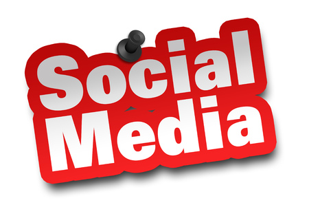 social media concept 3d illustration isolated on white background Imagens