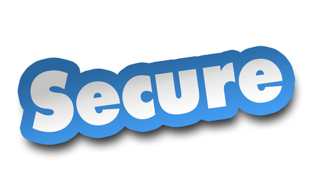 secure concept 3d illustration isolated on white background