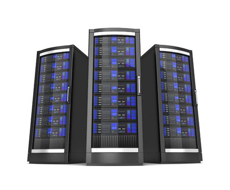 network workstation servers 3d illustration isolated on white background Stock fotó