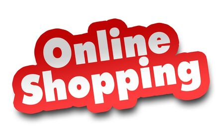 online shopping concept 3d illustration isolated on white background