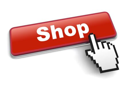 shop concept 3d illustration isolated on white background Stok Fotoğraf
