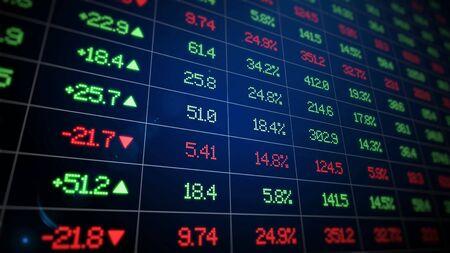 stock market exchange graph illustration concept 3d illustration