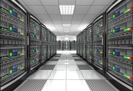 network workstation server room concept 3d illustration