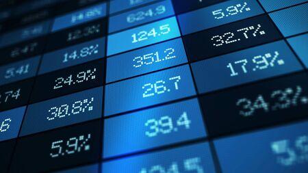 stock market exchange graph illustration concept 3d illustration Foto de archivo
