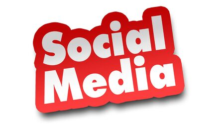 social media concept 3d illustration isolated on white background Stock Photo