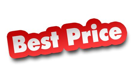 best price concept 3d illustration isolated on white background Stock Photo
