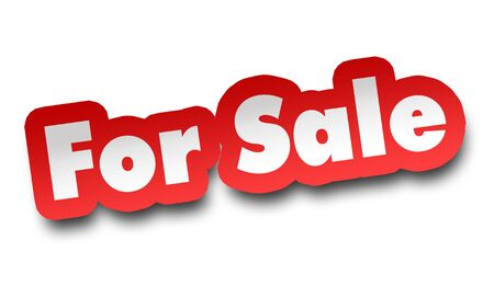 for sale concept 3d illustration isolated on white background