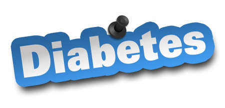 diabetes concept 3d illustration isolated on white background Banque d'images