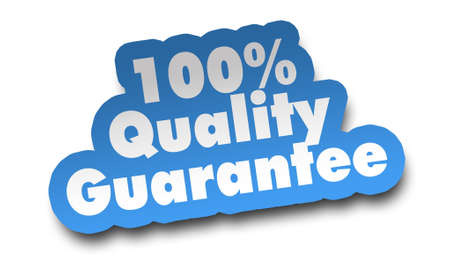 quality guarantee concept 3d illustration isolated on white background