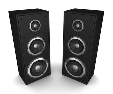 speaker concept 3d illustration isolated on white background Archivio Fotografico