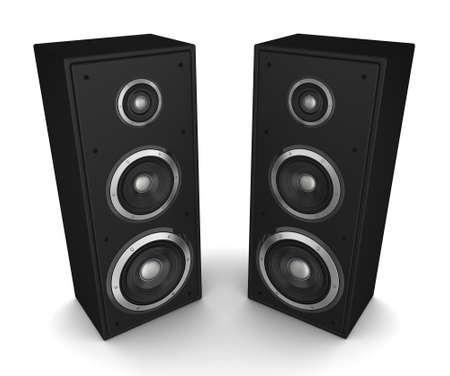 speaker concept 3d illustration isolated on white background Reklamní fotografie