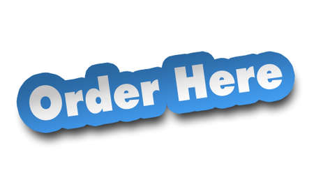 order here concept 3d illustration isolated on white background Imagens