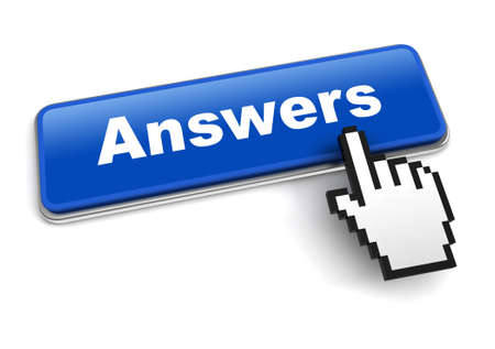 answers concept 3d illustration isolated on white background