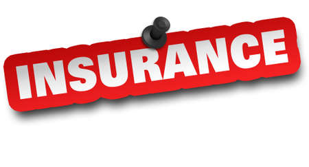insurance concept 3d illustration isolated on white background