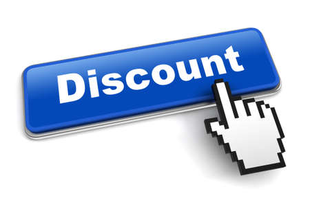 discount concept 3d illustration isolated on white background